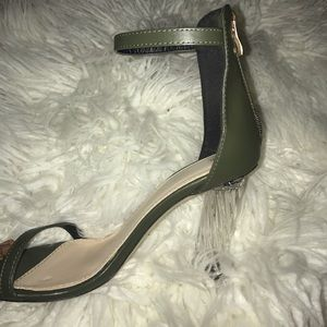 Green invisible heels